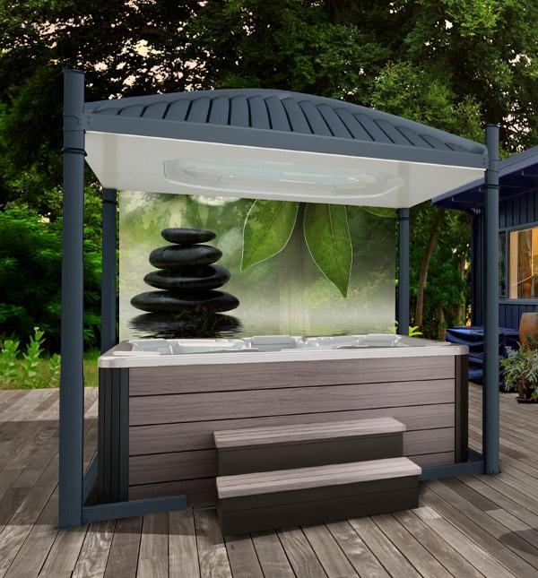Oasis Mural Zen Screen